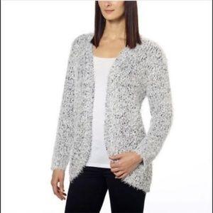 Kensie Fuzzy Open Front Sweater